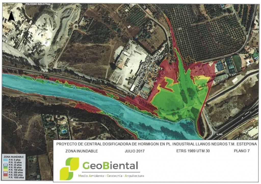 mapa calificacion ambiental industria hormigon en estepona