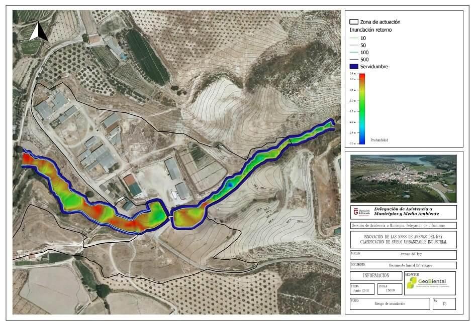 EAE Riesgo Inundacion Geobiental Arenas del Rey Granada