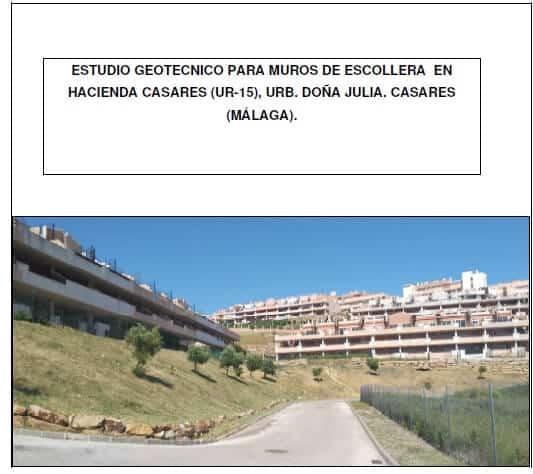 Estudio Geotécnico en Casares - Málaga
