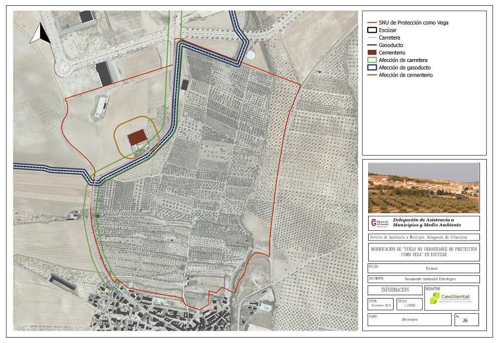 Estudio de Afecciones del terreno en Escúzar
