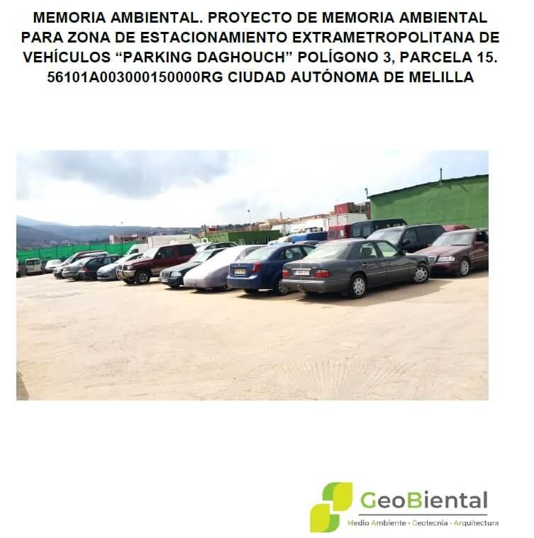 Memoria Ambiental para Parking en Melilla