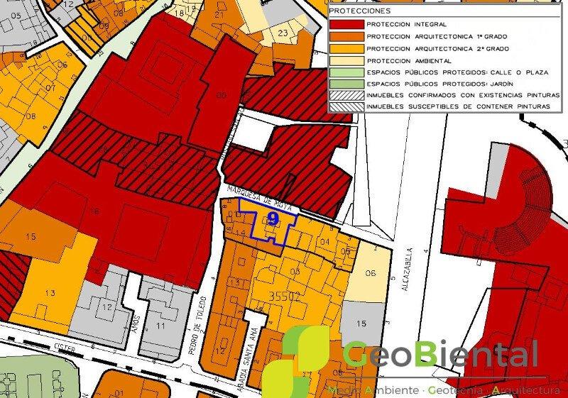 mapa de instrumentos de planeamiento urbanistico de geobiental