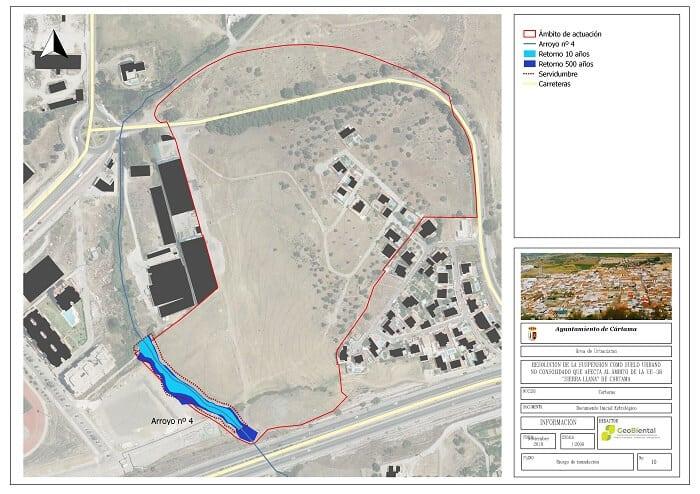 mapa de riesgo de inundacion de suelo no consolidado en cartama